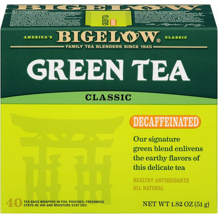Bigelow Classic Decaffeinated Green Tea 40 ct  (Pack of 6)