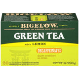 Bigelow Green Tea with Lemon Decaffeinated Tea Bags .91 Oz  (Pack of 6)