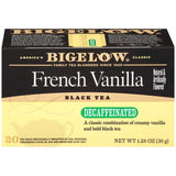 Bigelow French Vanilla Decaffeinated Tea Bags 1.28 Oz  (Pack of 6)