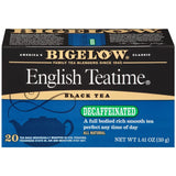 Bigelow English Teatime Black Tea Decaffeinated Tea Bags 1.41 Oz  (Pack of 6)