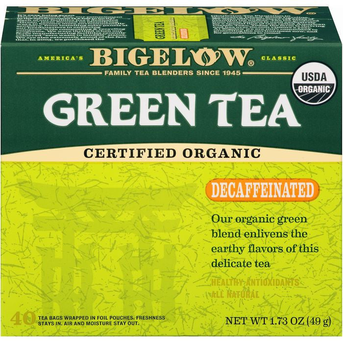 Bigelow Organic Decaffeinated Green Tea 40 ct  (Pack of 6)