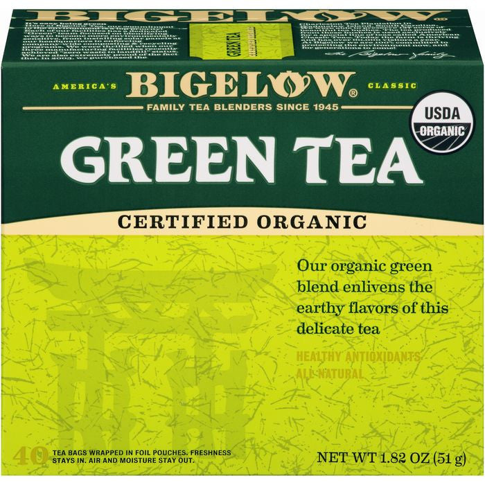 Bigelow Organic Green Tea 40 ct  (Pack of 6)
