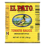 El Pato Mexican Hot Style Tomato Sauce, 27 OZ (Pack of 12)