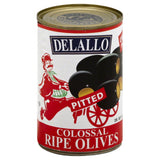 DeLallo Pitted Colossal Ripe Olives, 5.75 Oz (Pack of 24)