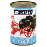 DeLallo Pitted Extra Large Ripe Olives, 6 Oz (Pack of 24)