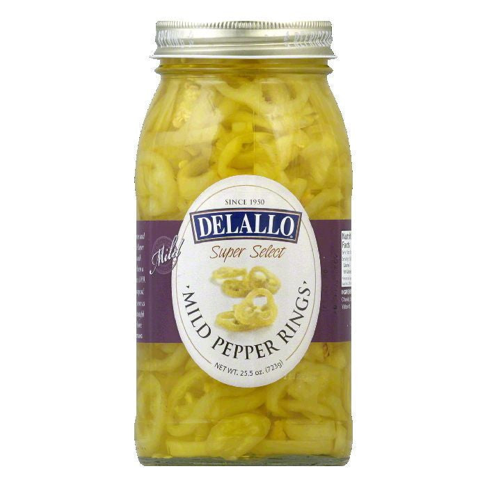 DeLallo Mild Banana Pepper Rings, 25.5 OZ (Pack of 6)