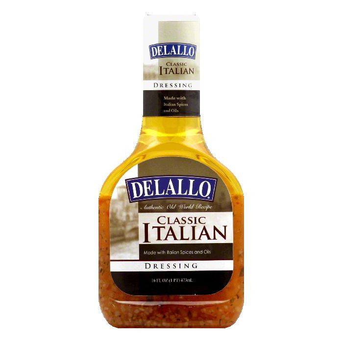 DeLallo Classic Italian Dressing, 16 Oz (Pack of 6)