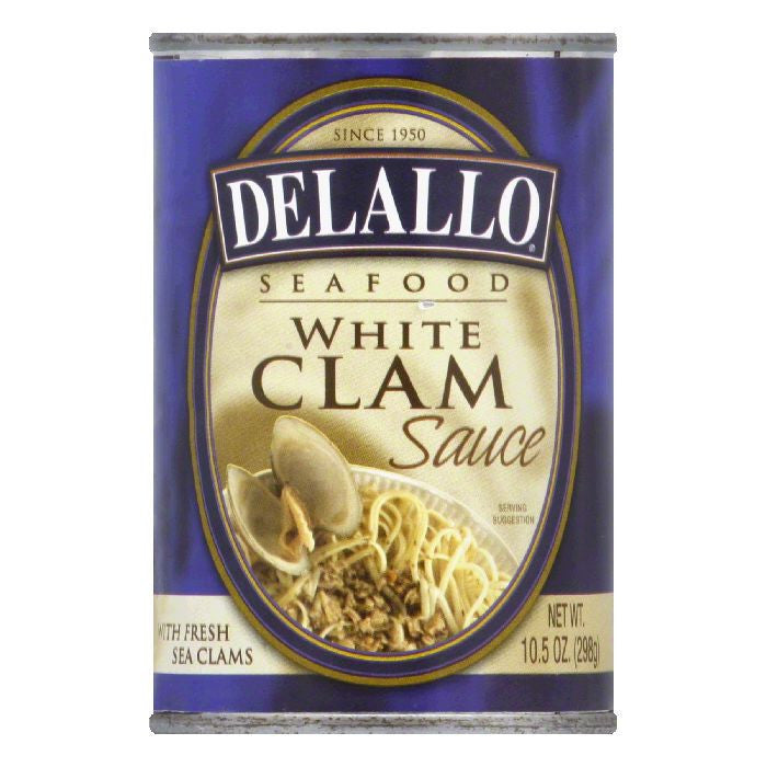 DeLallo White Clam Sauce, 10.5 OZ (Pack of 12)