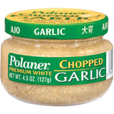 Polaner Chopped Premium White Garlic 4.5 Oz  (Pack of 12)