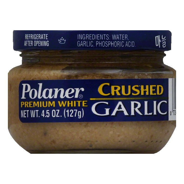 Polaner Premium White Crushed Garlic, 4.5 Oz (Pack of 12)