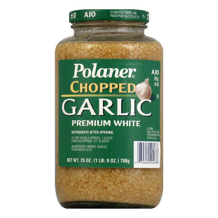 Polaner Garlic Chopped, 25 OZ (Pack of 6)
