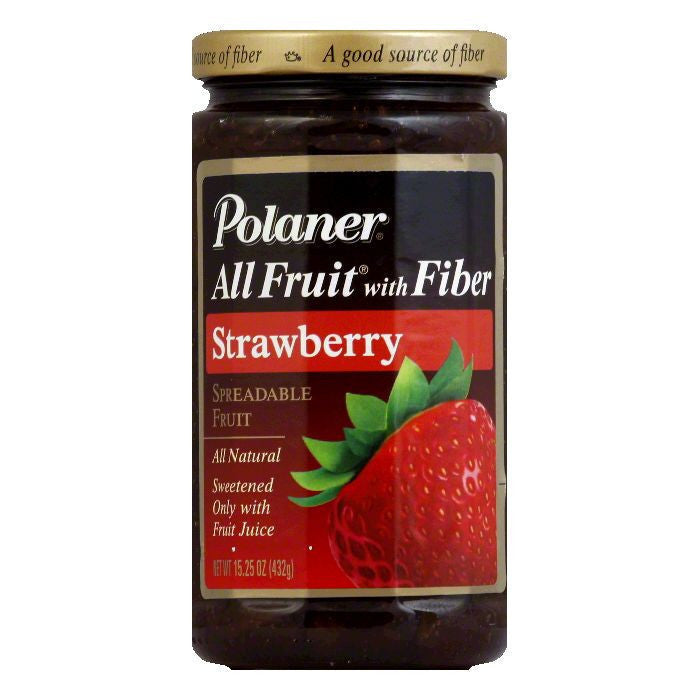 Polaner Fruit Spread Strawberry, 15.25 OZ (Pack of 12)