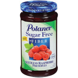 Polaner Raspberry Seedless Sugar Free W/Fiber Preserves 13.5 Oz  (Pack of 12)