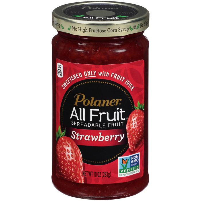Polaner All Fruit Strawberry Spreadable Fruit 10 Oz  (Pack of 12)