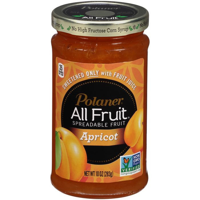 Polaner All Fruit Apricot Spreadable Fruit 10 Oz  (Pack of 12)