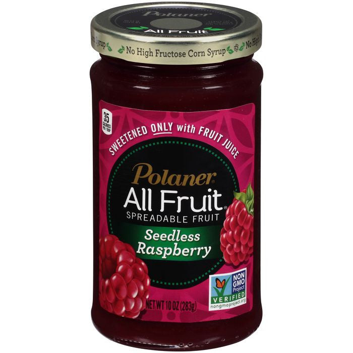 Polaner All Fruit Seedless Raspberry Spreadable Fruit 10 Oz  (Pack of 12)