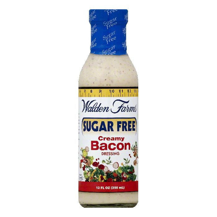Walden Farms Sugar Free Creamy Bacon Dressing, 12 OZ (Pack of 6)