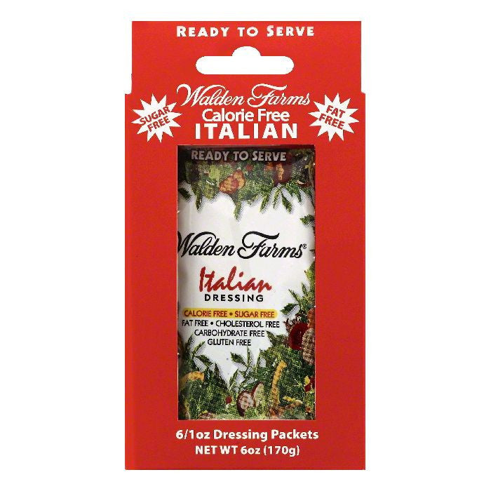 Walden Farms Packets Italian Dressing, 6 ea (Pack of 12)