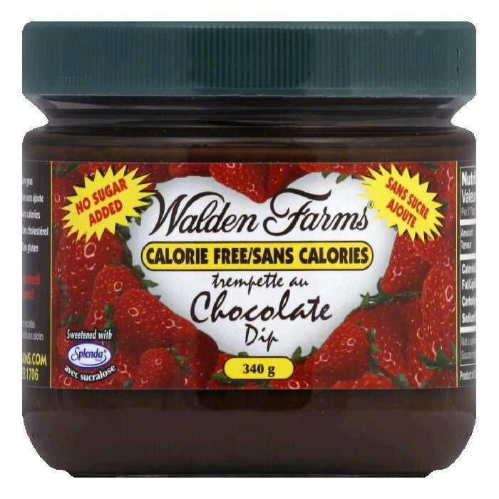 Walden Farms No Calorie Chocolate Dip, 12 OZ (Pack of 6)