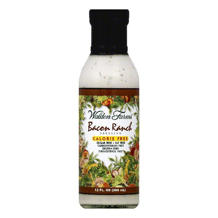 Walden Farms Bacon Ranch Dressing, 12 OZ (Pack of 6)