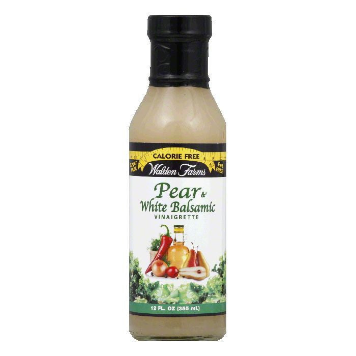 Walden Farms Pear & White Balsamic Dressing, 12 OZ (Pack of 6)