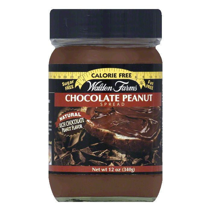 Walden Farms Peanut Chocolate Spread, 12 OZ (Pack of 6)