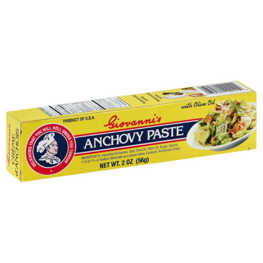 Giovannis Anchovy Paste with Olive Oil, 2 Oz (Pack of 12)
