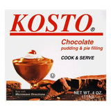 Kosto Chocolate Pudding Mix, 4 OZ (Pack of 6)