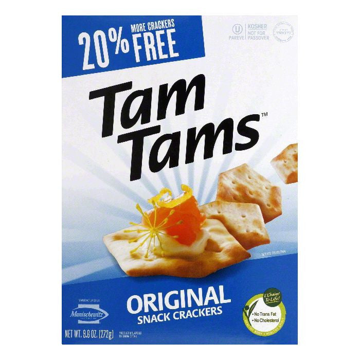 Manischewitz Original Tam Tam Crackers, 9.6 OZ (Pack of 12)