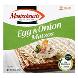 Manischewitz Egg & Onion Matzos, 10 OZ (Pack of 12)