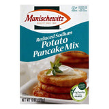 Manischewitz Reduced Sodium Potato Pancake Mix, 6 OZ (Pack of 12)