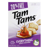 Manischewitz Everything Tam Tam Crackers, 9.6 OZ (Pack of 12)