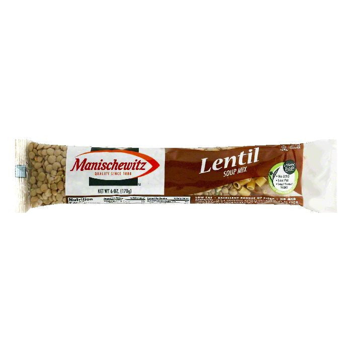 Manischewitz Lentil Soup Mix, 6 OZ (Pack of 24)