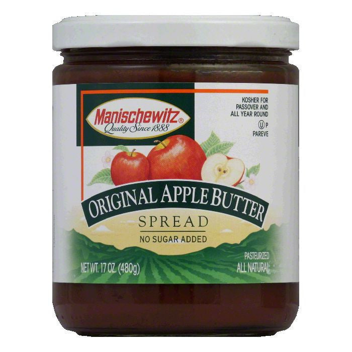 Manischewitz Passover Apple Butter Spread, 17 OZ (Pack of 6)