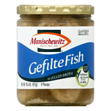 Manischewitz in Jelled Broth Gefilte Fish, 4 ea (Pack of 6)