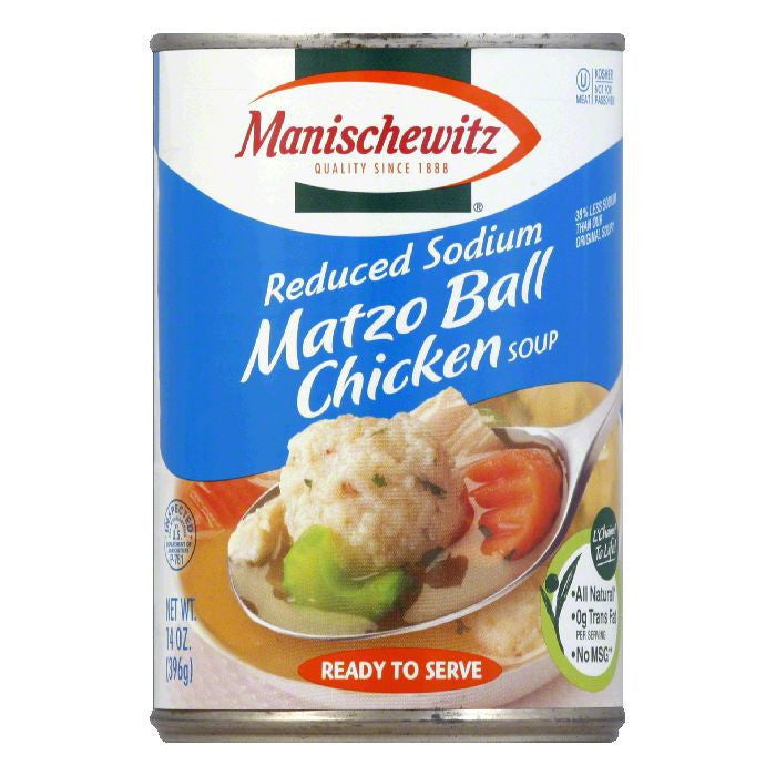 Manischewitz Matzo Ball Chicken Soup, 14 OZ (Pack of 12)