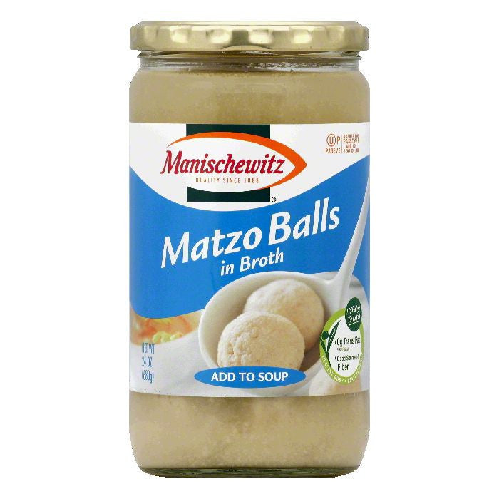 Manischewitz in Broth Matzo Balls, 24 OZ (Pack of 6)