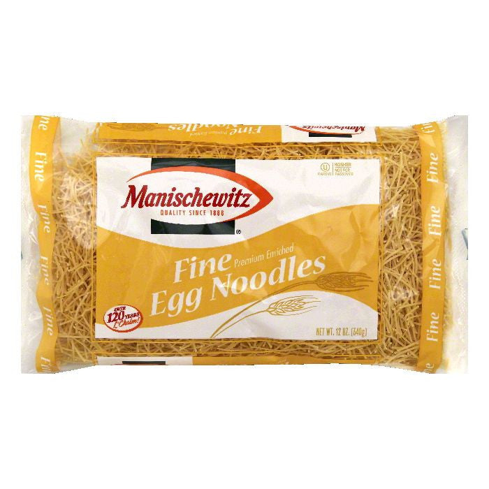 Manischewitz Fine Egg Noodles, 12 OZ (Pack of 12)