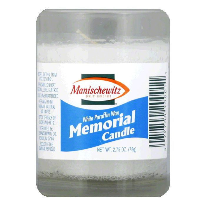 Manischewitz Yahreitz Memorial Candle 1 Count, 1 EA (Pack of 24)