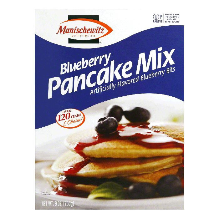 Manischewitz Blueberry Pancake Mix, 9 Oz (Pack of 12)