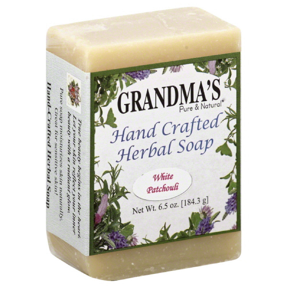 Grandmas Pure & Natural White Patchouli Hand Crafted Herbal Soap, 6 Oz