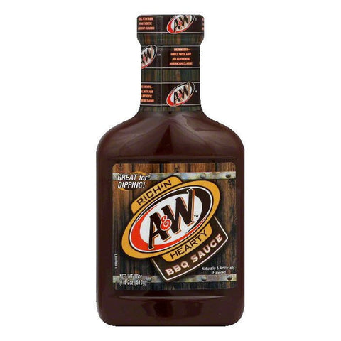 Jim Beam A&W BBQ Sauce, 18 OZ (Pack of 6)