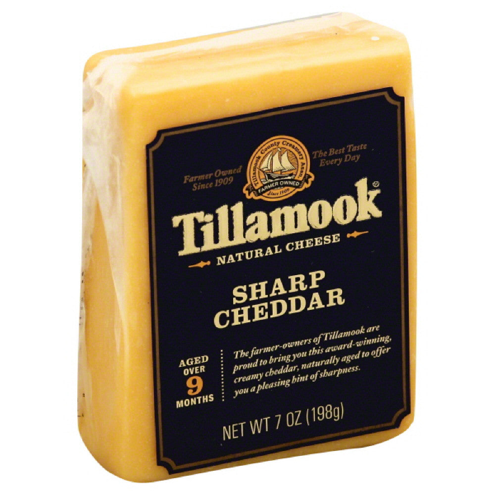Tillamook Sharp Cheddar Natural Cheese, 7 Oz (Pack of 12)