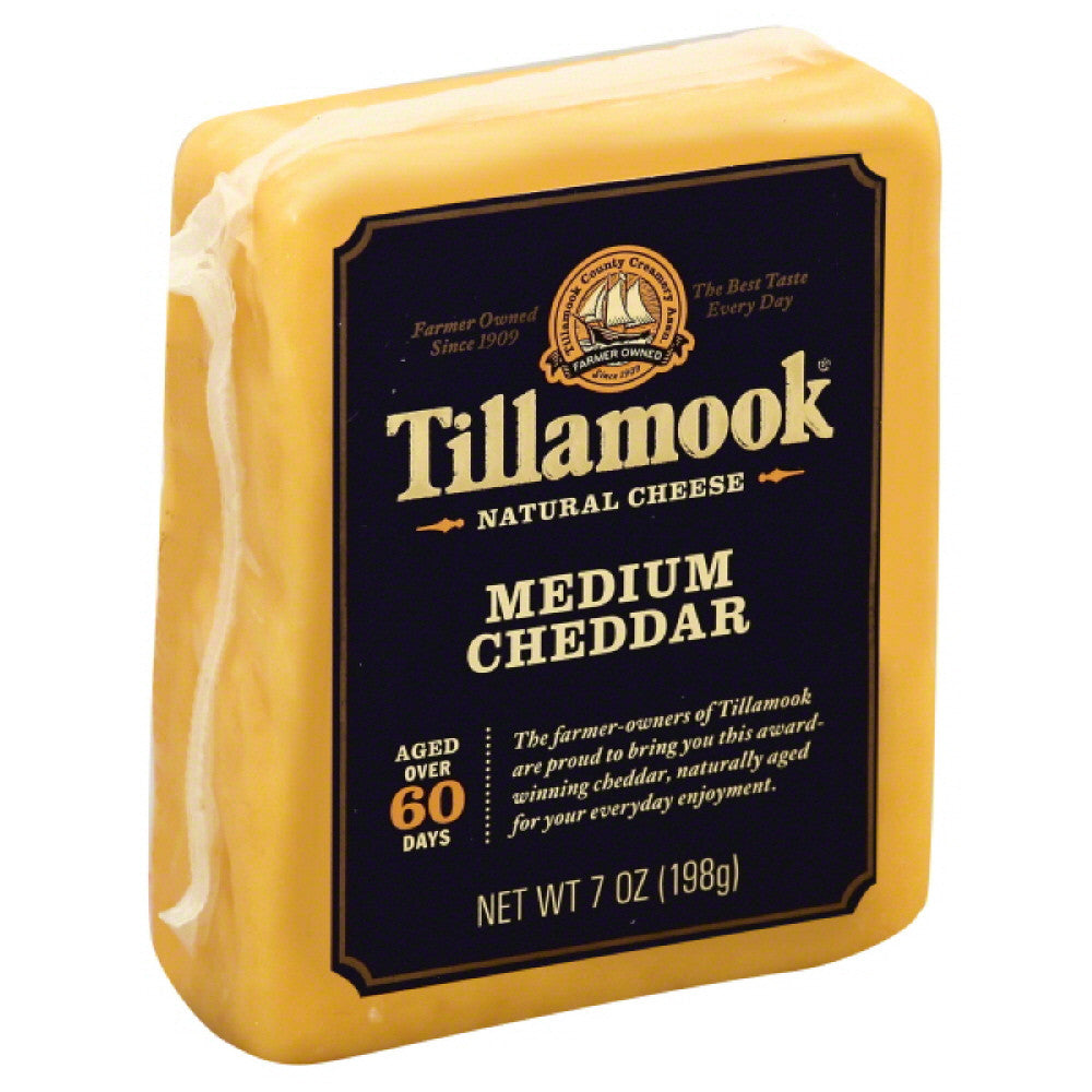 Tillamook Medium Cheddar Natural Cheese, 7 Oz (Pack of 12)