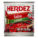 Herdez Salsa Casera Hot, 7 FO (Pack of 12)