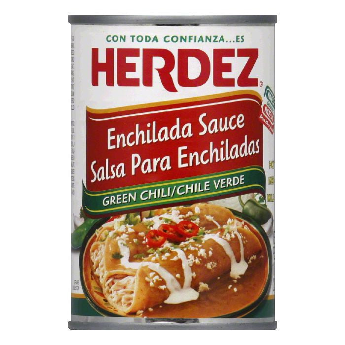 Herdez Mild Green Chili Enchilada Sauce, 10 Oz (Pack of 12)