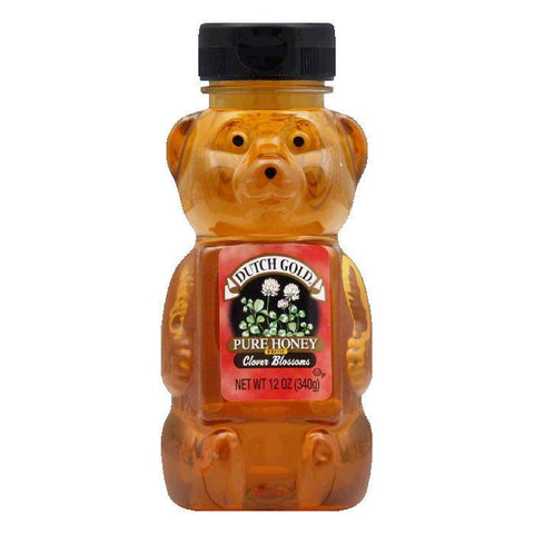 Dutch Gold Clover Honey Squeeze Honey Bear, 12 OZ (Pack of 12)
