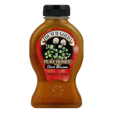 Dutch Gold Clover Honey Jar, 16 OZ (Pack of 6)
