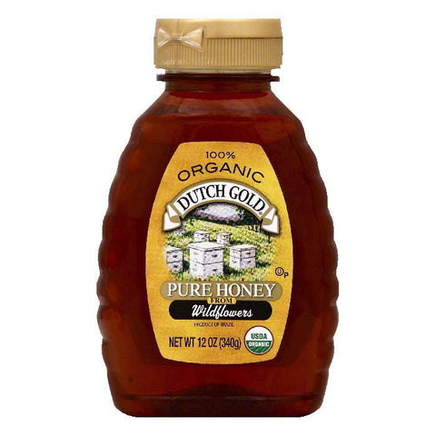 Dutch Gold from Wildflowers Organic Pure Honey, 12 OZ (Pack of 6)