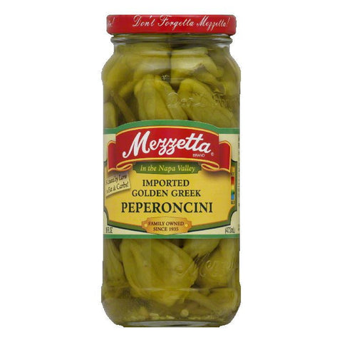 Mezzetta Peperoncini Golden Greek, 16 OZ (Pack of 6)
